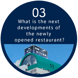 03 What is the next developments of the newly opened restaurant?